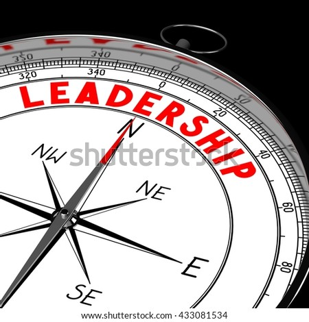3D illustration/ 3d rendering - compass, leadership concept.