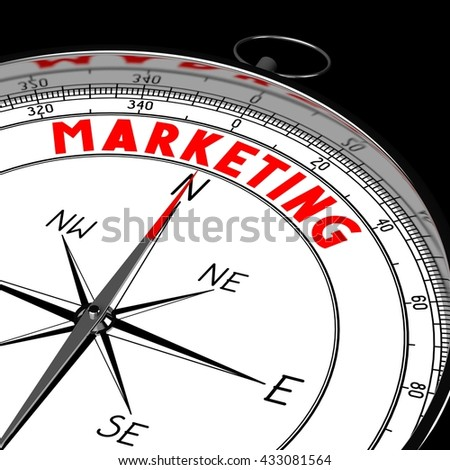 3D illustration/ 3d rendering - compass, marketing concept.