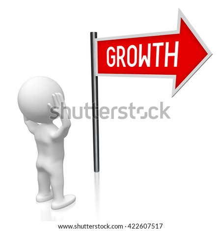 3D illustration/ 3D rendering - growth signpost