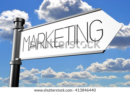 3D illustration/ 3D rendering - marketing signpost