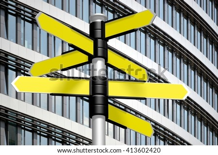 3D illustration/ 3D rendering - signpost concept. - stock photo