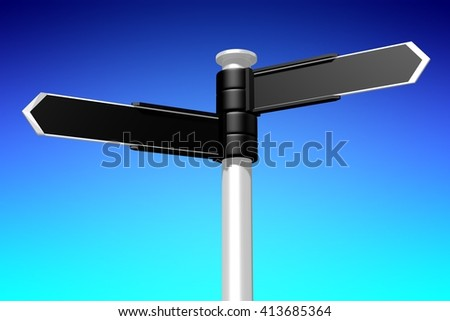 3D illustration/ 3D rendering - signpost concept.