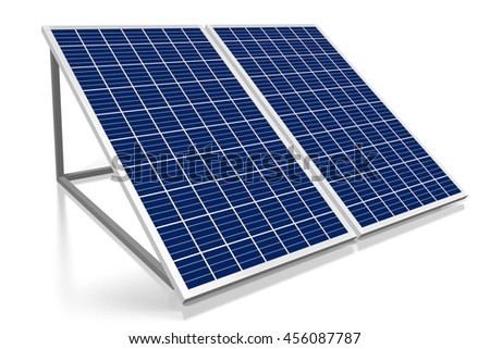 3D illustration/ 3D rendering - solar energy concept
