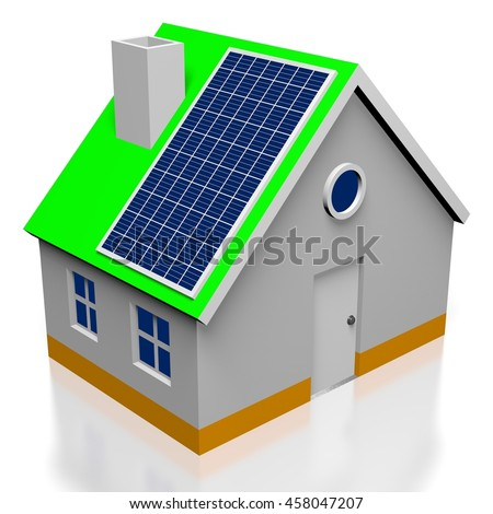 3D illustration/ 3D rendering - solar energy concept.