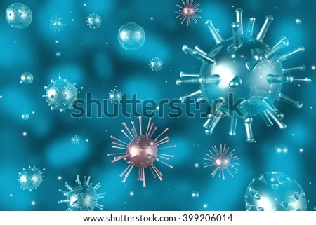 3D illustration/ 3D rendering - virus concept. - stock photo