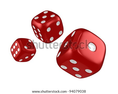 3D Illustration Featuring Thrown Dice