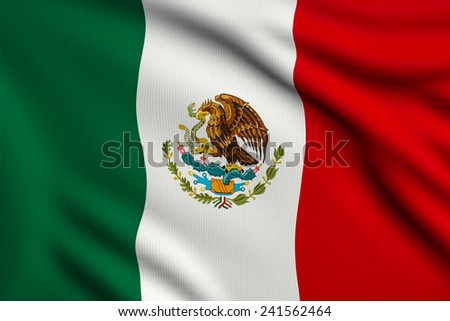 3d illustration flag of Mexico