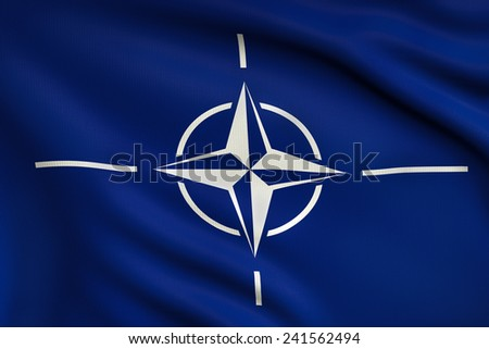 3d illustration flag of NATO