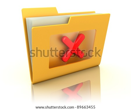 3d illustration folder over white background