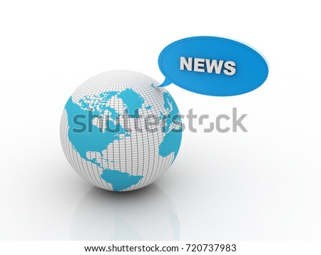 3d illustration global News
