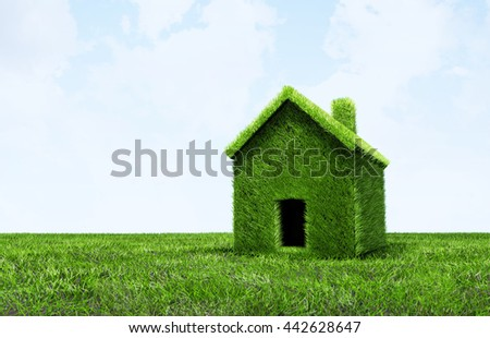 3D Illustration - Green grass texture