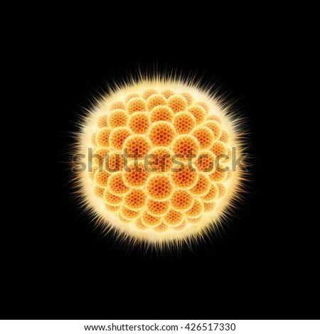 3D illustration Human Virus - stock photo
