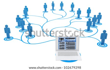 3d illustration: Job Search over the Internet, the Web site. Many candidates - stock photo