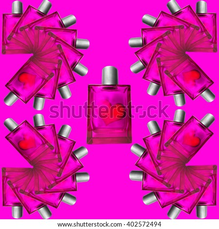 3D illustration, Love in bottle