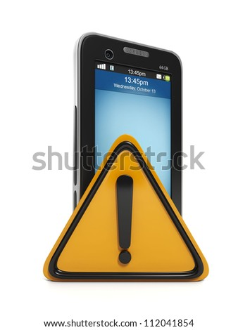 3d illustration: Mobile technology. communication error - stock photo