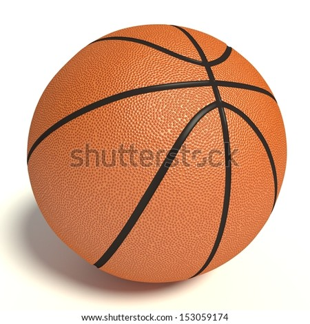 3d Illustration of a Basketball.
