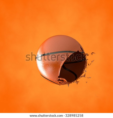 3d illustration of a basketball - stock photo