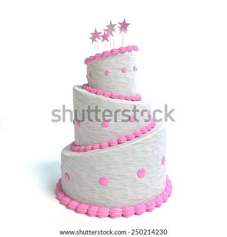 3d illustration of a cake