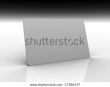 3D illustration of a credit card