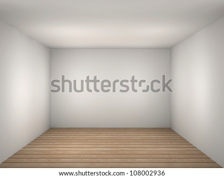 3d Illustration Of A Empty White Room