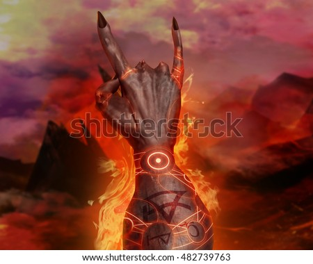 3 d illustration first person demonic hand stock illustration 3d illustration of a first person demonic hand artwork of a 3d first person view voltagebd Images