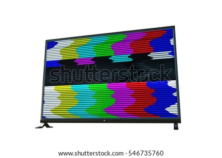 3d illustration of a flat tv isolated on white background