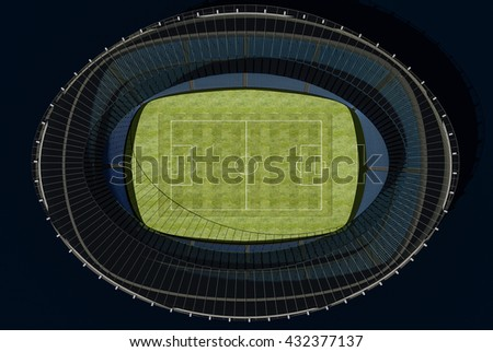 3D illustration of a football stadium