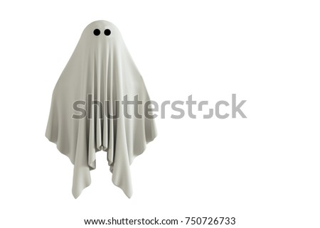 3d illustration of a ghost isolated on white background
