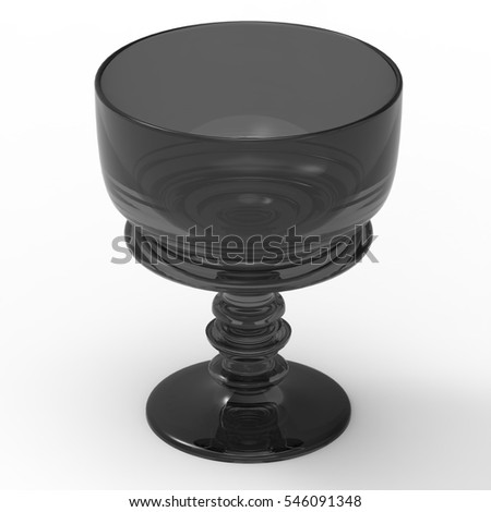 3D Illustration Of A Glass Drinking Chalice On A Masked Transparent Background