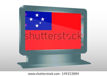 3D Illustration of a Glass Holder isolated with the flag of Western Samoa - stock photo