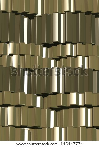 3d illustration of a number of shiny metal gear wheels / Machine transmission - stock photo