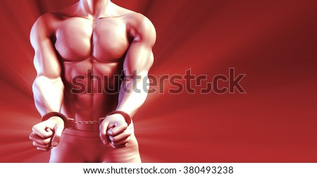 3D Illustration of a Prisoner and Punishment concept - stock photo