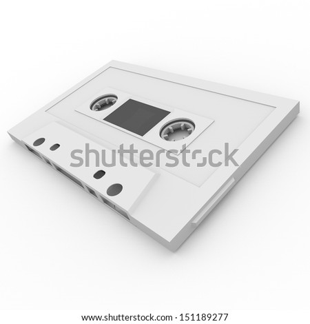 3D Illustration of a retro audio casette.