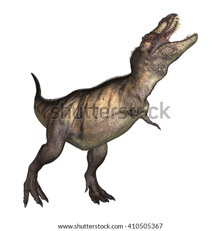 3D Illustration of a tyrannosaurus isolated on white background