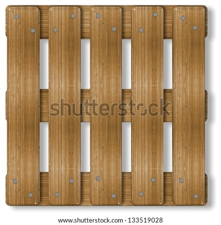 3d illustration of a wooden box palette / Palette - stock photo