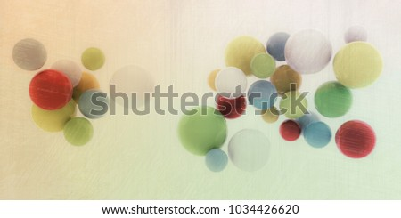 3d illustration of abstract spheres isolated on white background