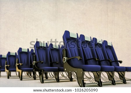 3d illustration of airplane seats isolated on white background