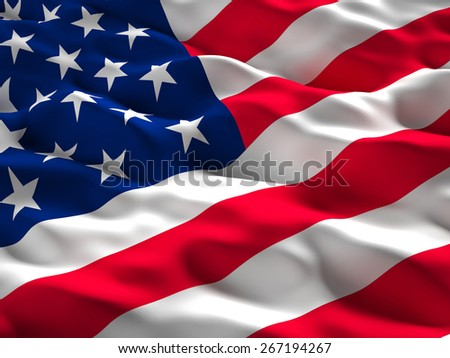 3d illustration of american old glory flag