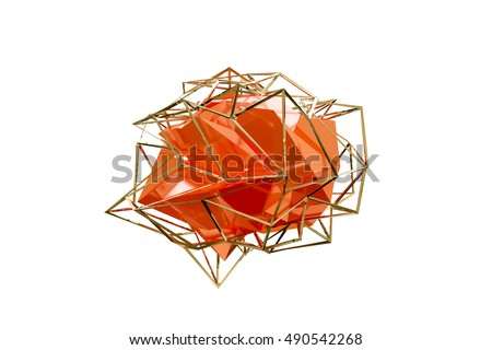 3d illustration of an abstract shape isolated on white background