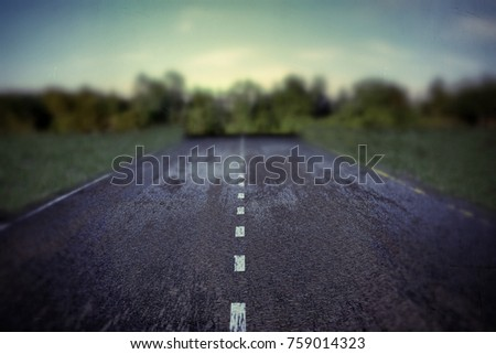 3d illustration of an empty road