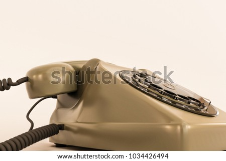 3d illustration of an old telephone isolated on white background