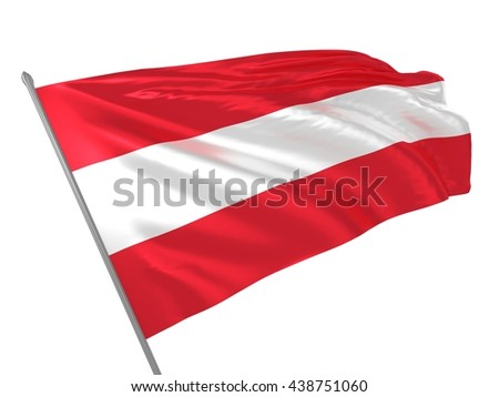 3d illustration of Austria flag waving in the wind