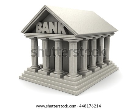 3d illustration of bank building