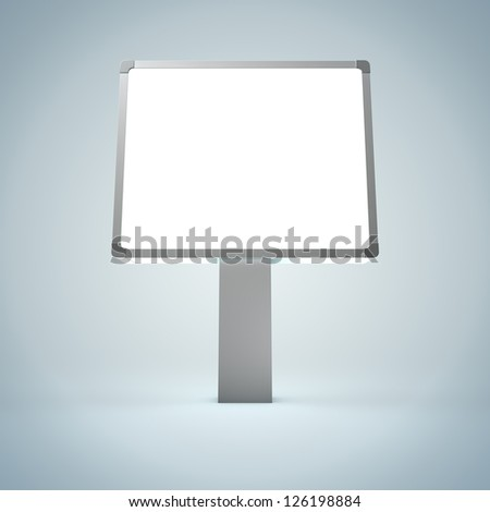 3D Illustration of Blank Billboard Detail Render isolated on Background - stock photo