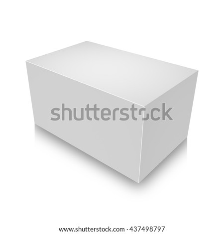 3d illustration of Blank box on white background