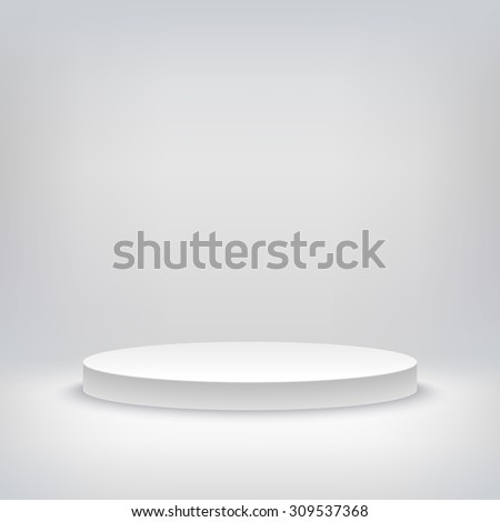 3d illustration of blank template layout of white empty musical, theater, concert or entertainment stage.