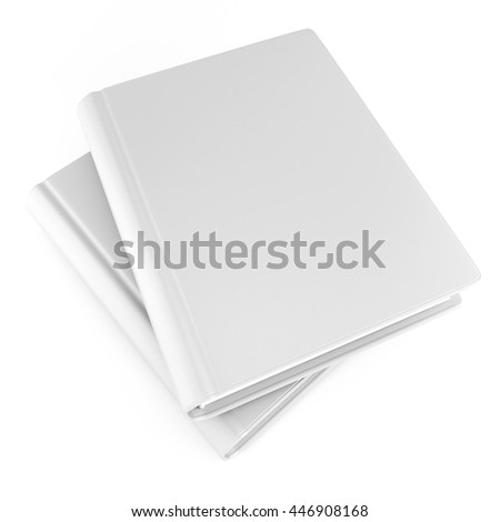 3d illustration of blank white notebook