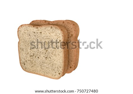 3d illustration of bread slices isolated on white background