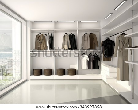 3d illustration of bright, comfortable, modern clothes - stock photo