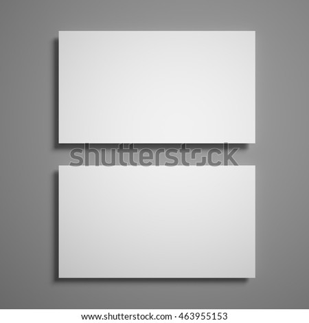 3D illustration of business card flyer poster isolated on the grey background to replace your design.